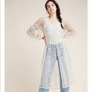Lace duster by Maeve for Anthropologie